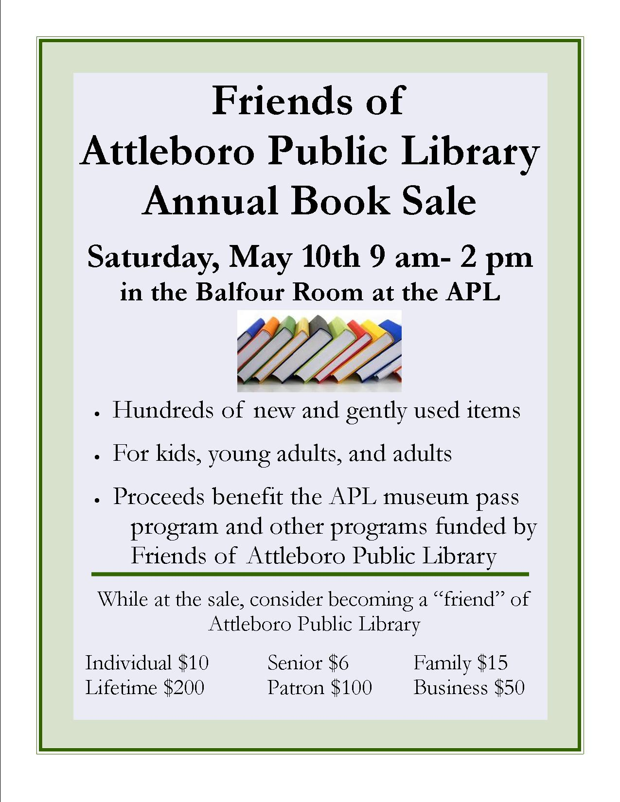 Annual Sale at APL May 10