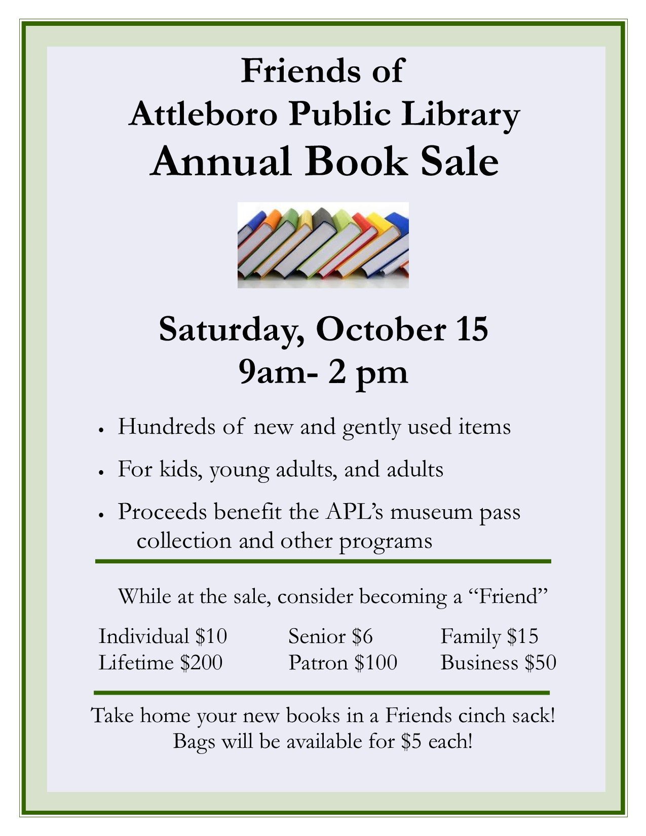 Attleboro Friends Book Sale
